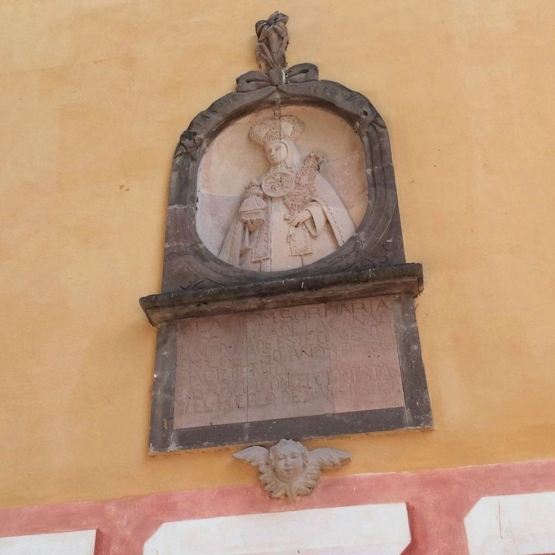 An additional marker to Josefa de la Canal, founder of the convent image. Click for full size.