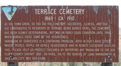 Terrace Cemetery Marker image. Click for full size.