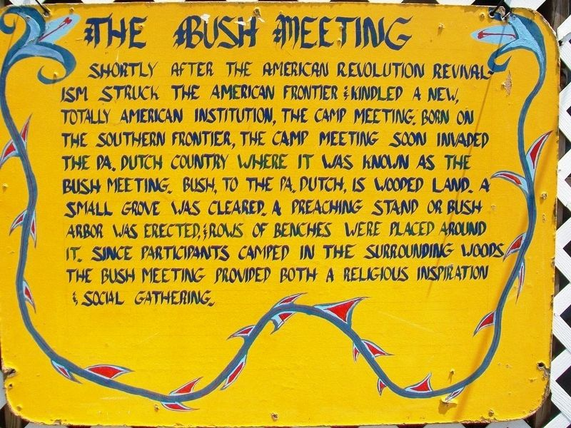 The Bush Meeting Marker image. Click for full size.