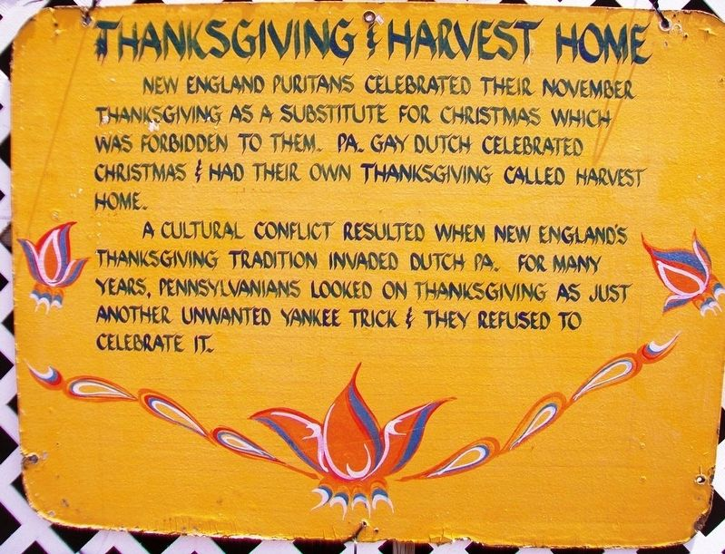 Thanksgiving & Harvest Home Marker image. Click for full size.