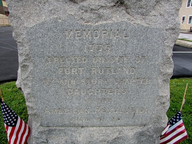 Fort Rutland Memorial Marker image. Click for full size.