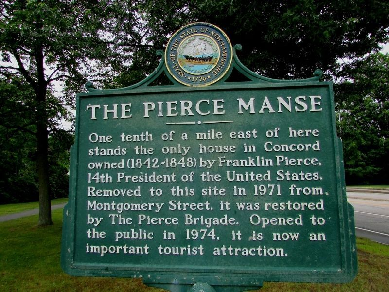 The Pierce Manse Marker image. Click for full size.