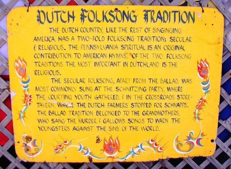 Dutch Folksong Tradition Marker image. Click for full size.