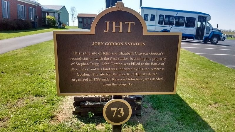 John Gordon's Station Marker image. Click for full size.