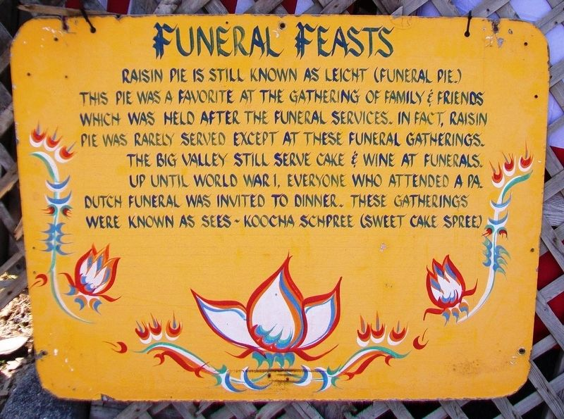 Funeral Feasts Marker image. Click for full size.