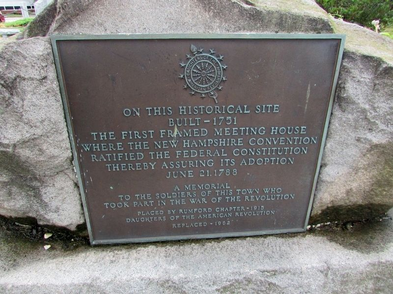 New Hampshire's First Meeting House Marker image. Click for full size.