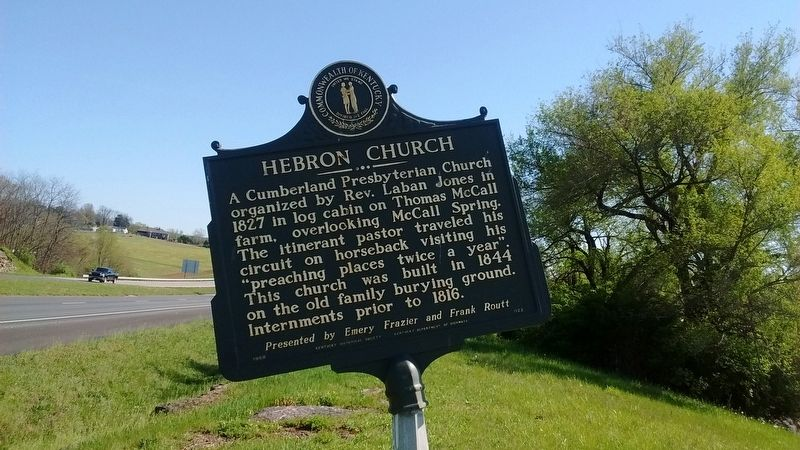 Hebron Church Marker image. Click for full size.
