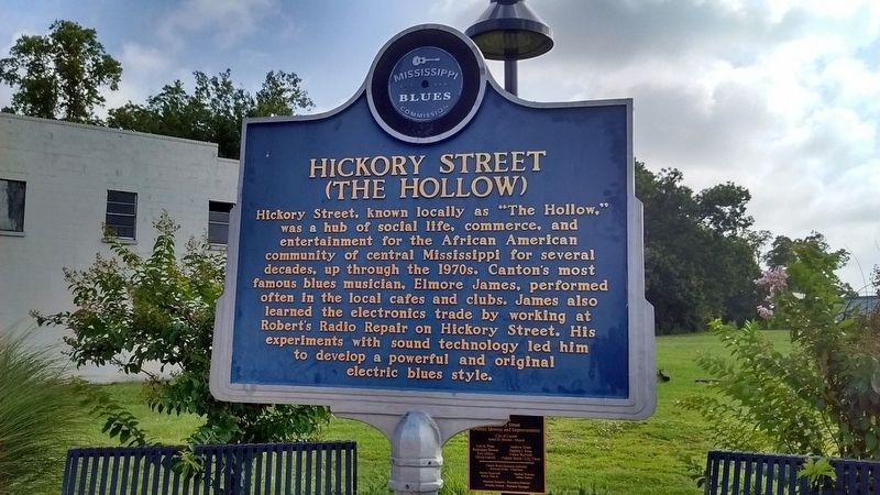 Hickory Street Marker (Side 1) image. Click for full size.
