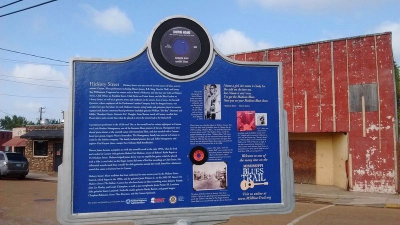 Hickory Street Marker (Side 2) image. Click for full size.