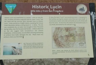 Historic Lucin Marker image. Click for full size.