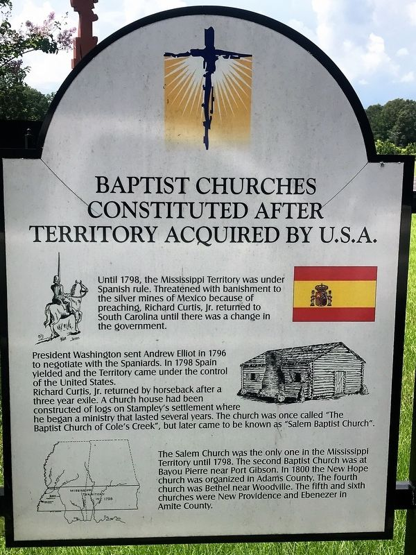 Baptist Churches Constituted After Territory Acquired By U.S.A. Marker image. Click for full size.
