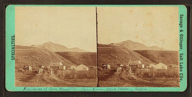 Residence of Ben Hampton, Bear River stage station, Utah Territory (Wyoming) image. Click for full size.