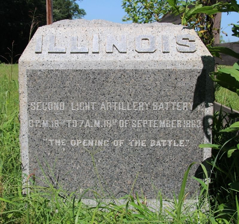 2nd Illinois Light Artillery Marker image. Click for full size.