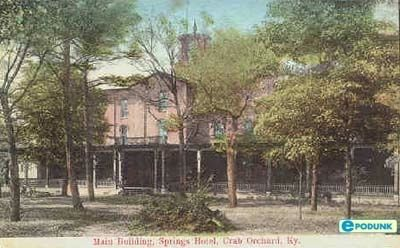 Crab Orchard Springs Hotel image. Click for full size.