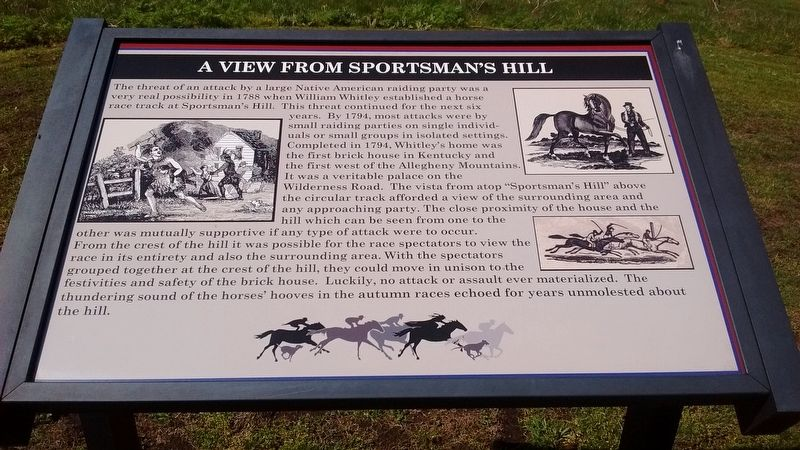 A View from Sportsman's Hill Marker image. Click for full size.