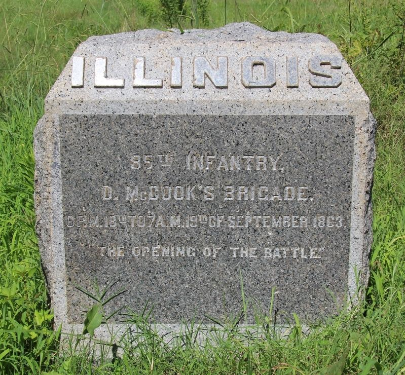 85th Illinois Infantry Marker image. Click for full size.
