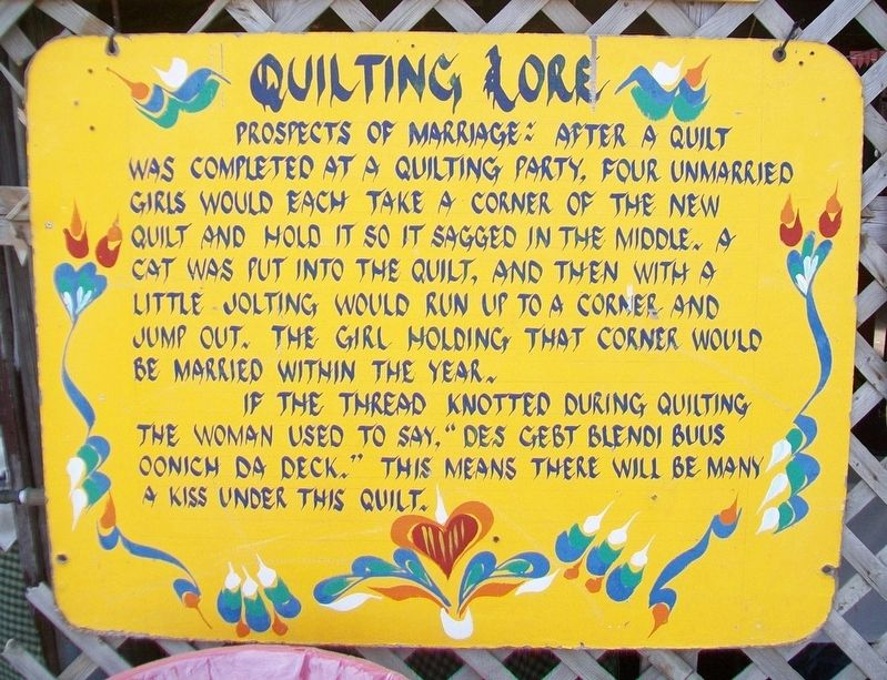 Quilting Lore Marker image. Click for full size.