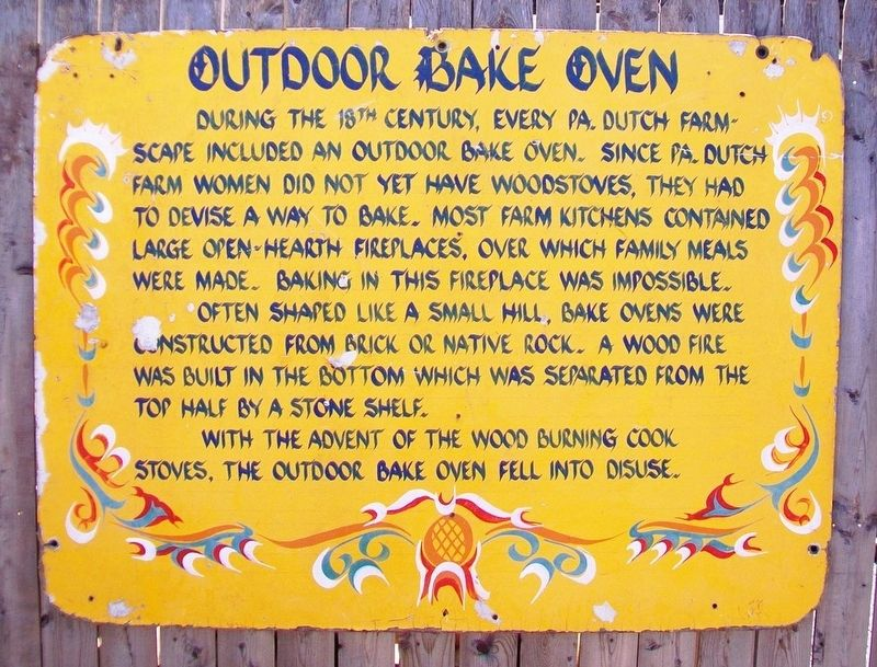 Outdoor Bake Oven Marker image. Click for full size.