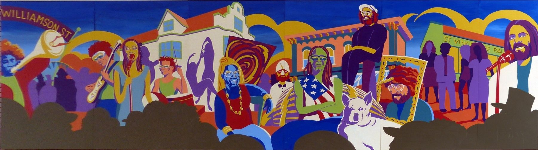 Toward Revolution / 1970's Vision Mural image. Click for full size.