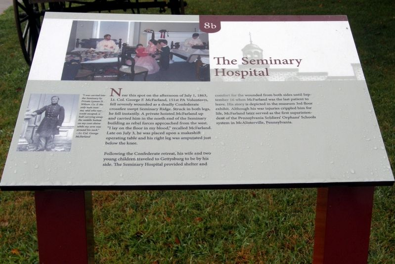 The Seminary Hospital Marker image. Click for full size.