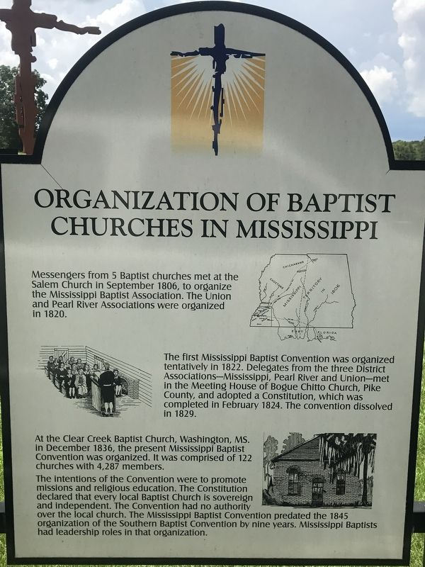 Organization of Baptist Churches in Mississippi Marker image. Click for full size.