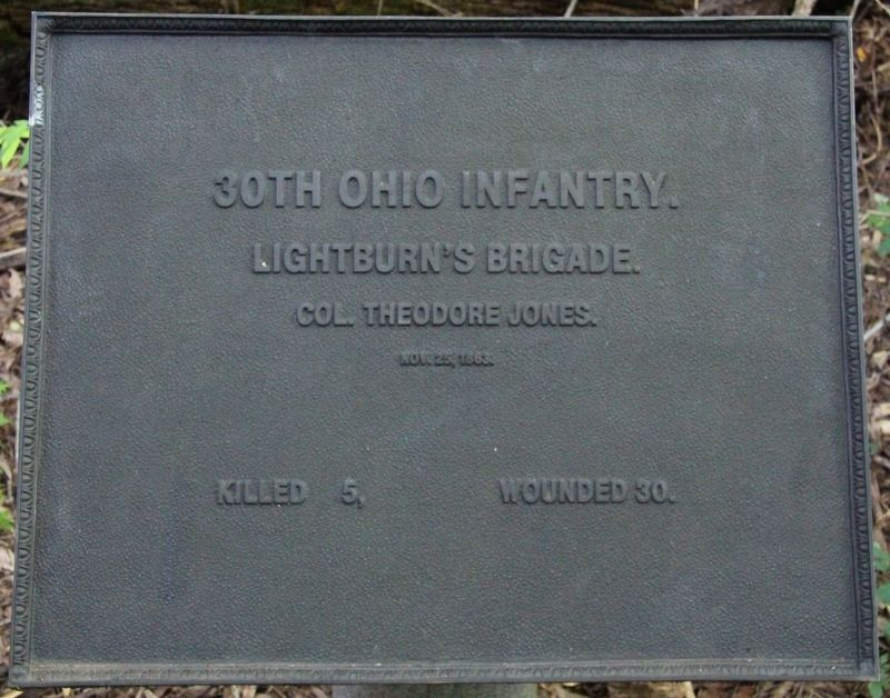 30th Ohio Infantry Marker image. Click for full size.