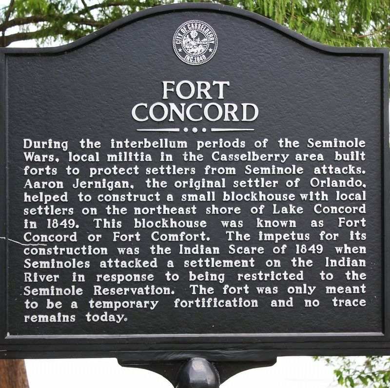 Fort Concord Marker Close-Up image. Click for full size.