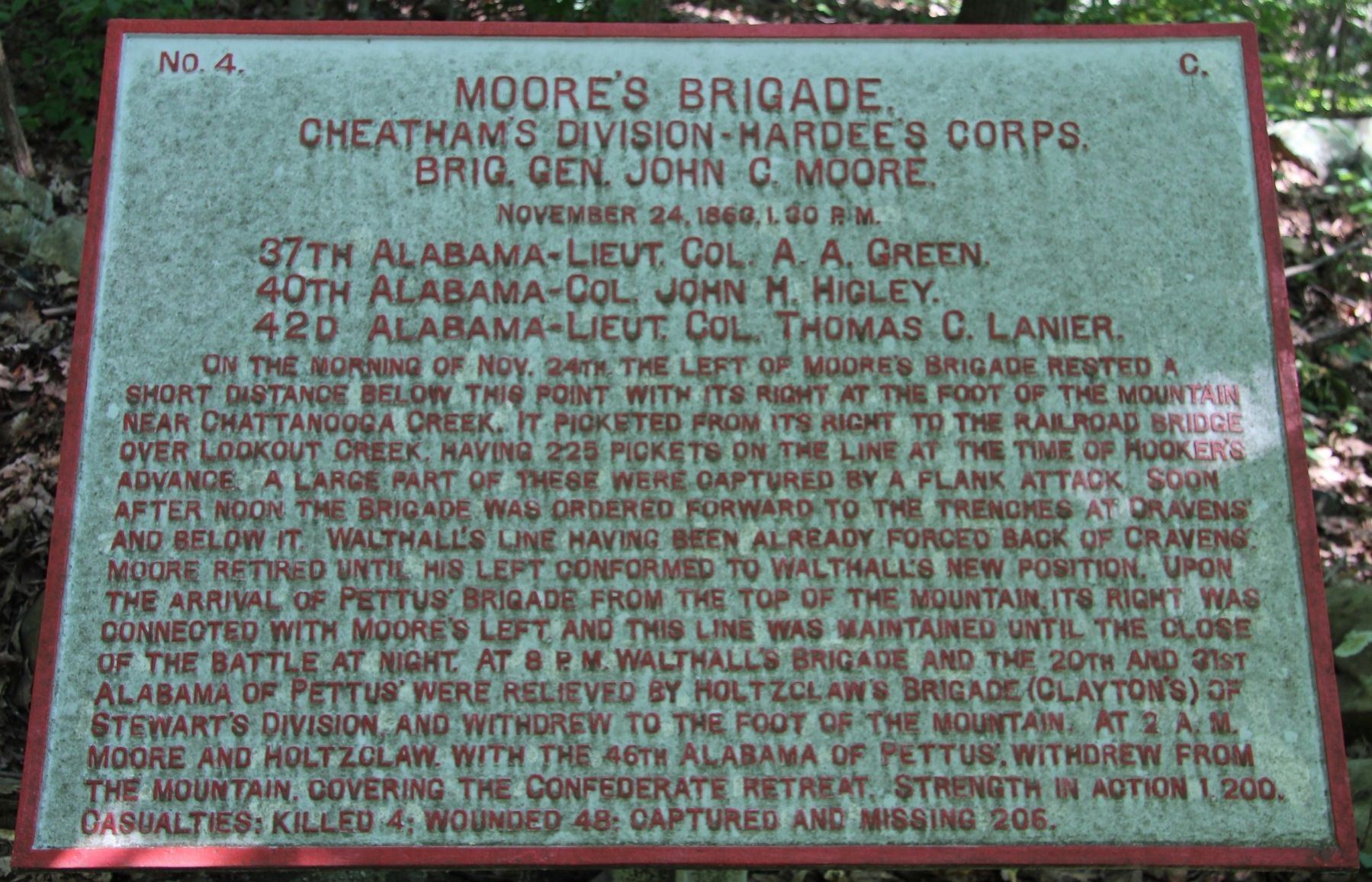 Moore's Brigade Marker image. Click for full size.