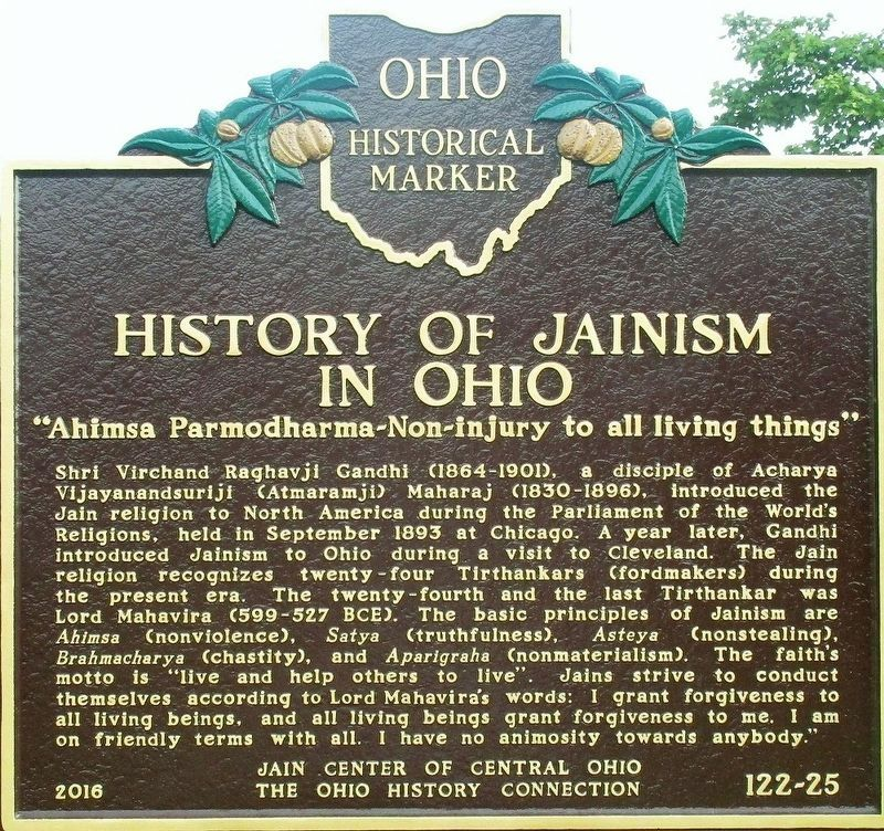 History of Jainism in Ohio Marker image. Click for full size.