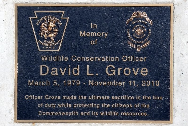 David L. Grove Marker image. Click for full size.