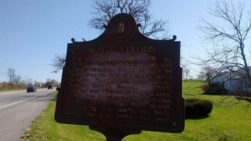 McAfee Station Marker image. Click for full size.