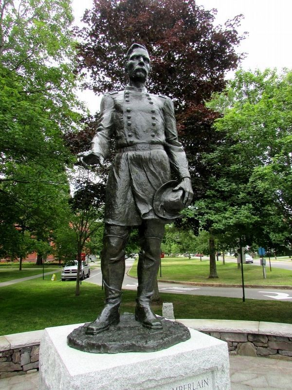 Statue of Joshua Lawrence Chamberlain image. Click for full size.