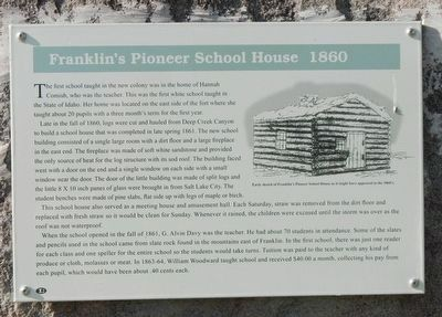 Franklin's Pioneer School House 1860 Marker image. Click for full size.