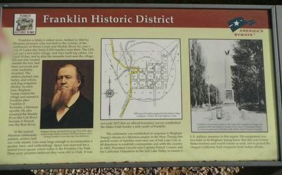 Franklin Historic District Marker image. Click for full size.