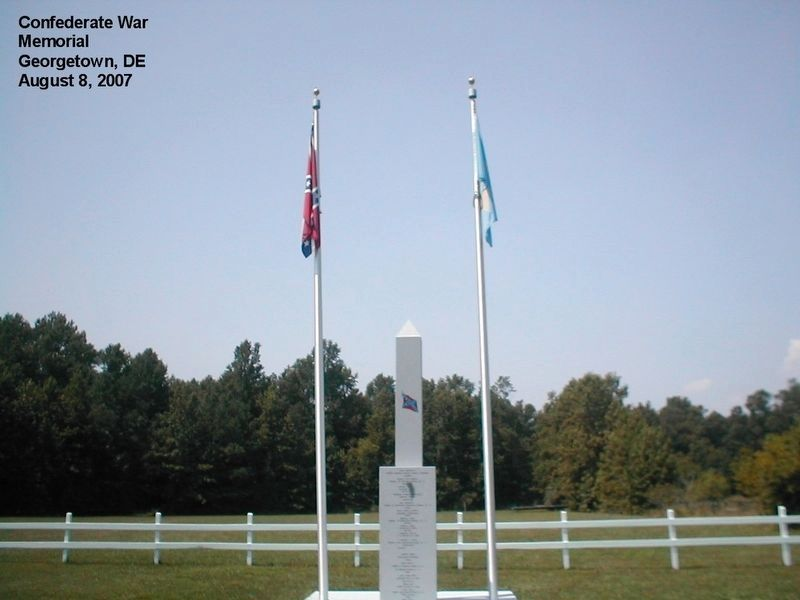 Delaware Confederate War Memorial Marker image. Click for full size.