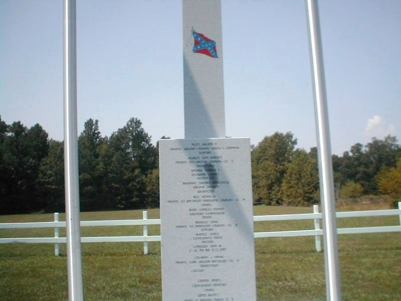 Delaware Confederate War Memorial-Front-text not legible image. Click for full size.