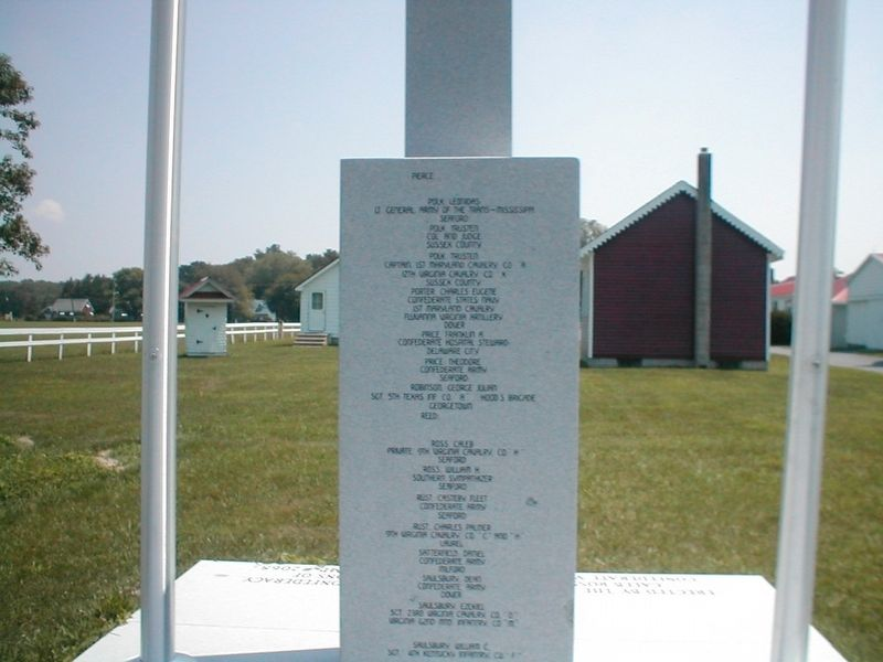 Delaware Confederate War Memorial-Back-Text not legible image. Click for full size.