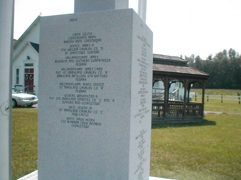 Delaware Confederate War Memorial-Side text is legible image. Click for full size.