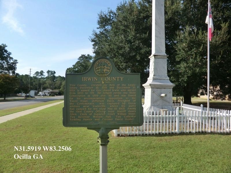 Irwin County marker image. Click for full size.