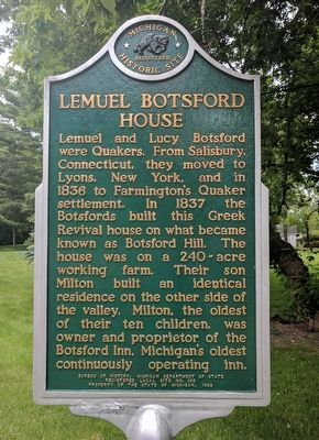 Lemuel Botsford House Marker image. Click for full size.