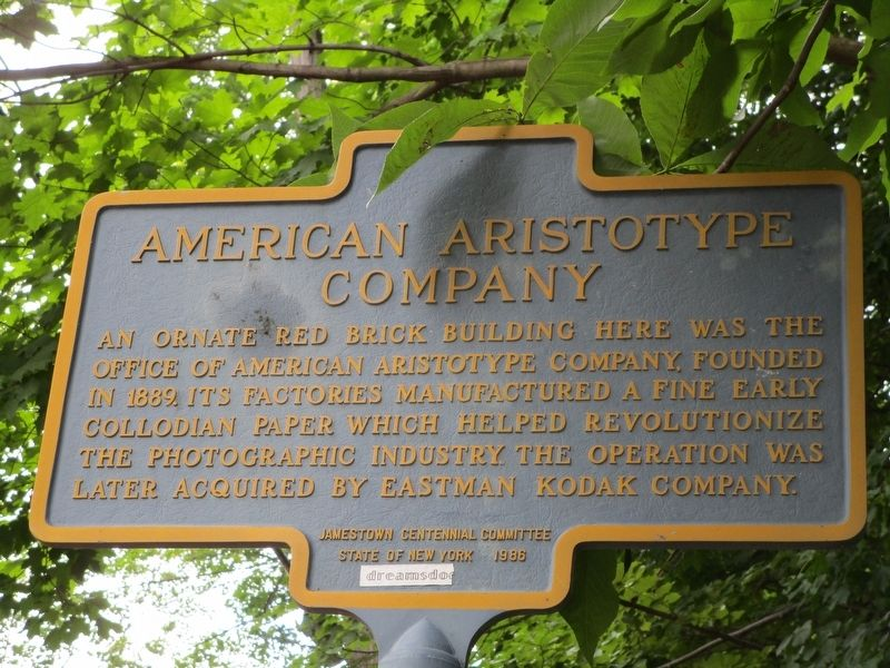 American Aristotype Company Marker image. Click for full size.