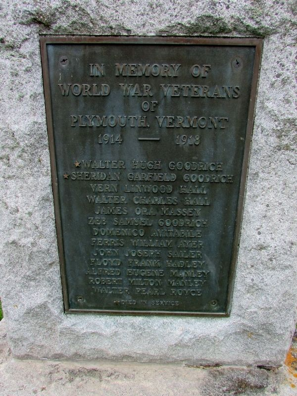 Plymouth WW1 Memorial Marker image. Click for full size.