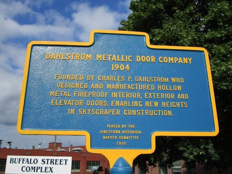 Dahlstrom Metallic Door Company Marker image. Click for full size.