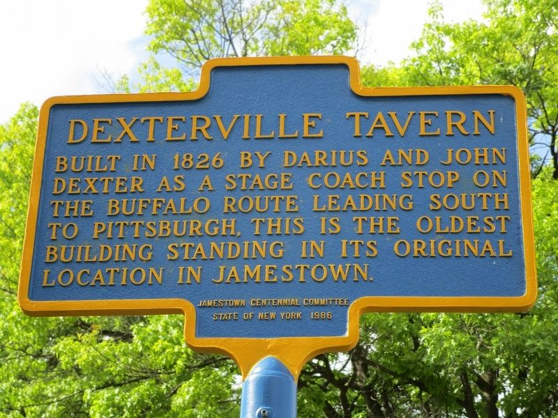 Dexterville Tavern Marker image. Click for full size.