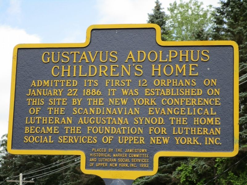 Gustavus Adolphus Children's Home Marker image. Click for full size.