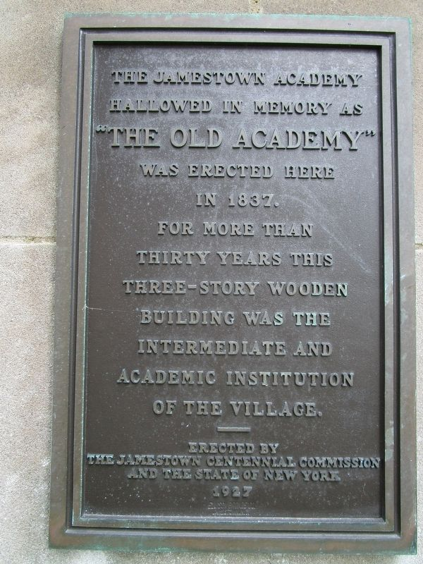 The Jamestown Academy Marker image. Click for full size.
