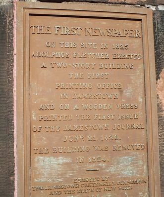 The First Newspaper Marker image. Click for full size.