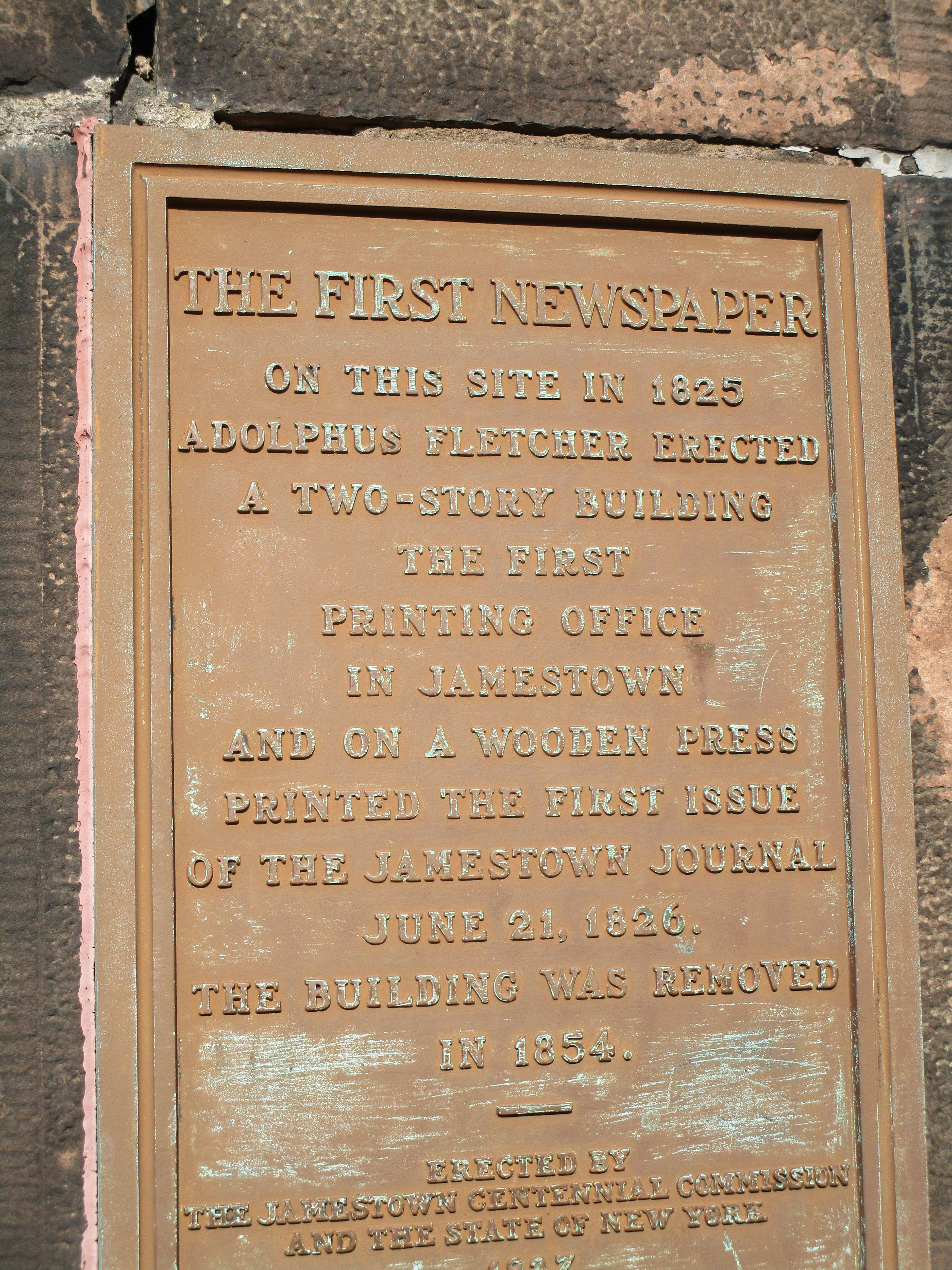 The First Newspaper Marker