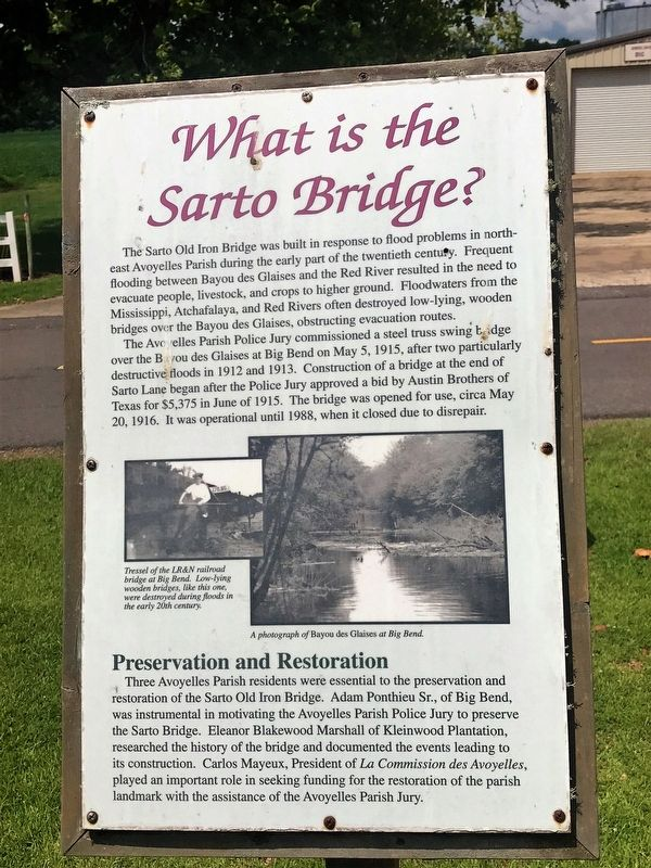 What is the Sarto Bridge? Marker image. Click for full size.