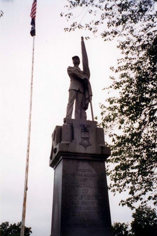 The Wolfeboro NH Civil War Memorial image. Click for full size.